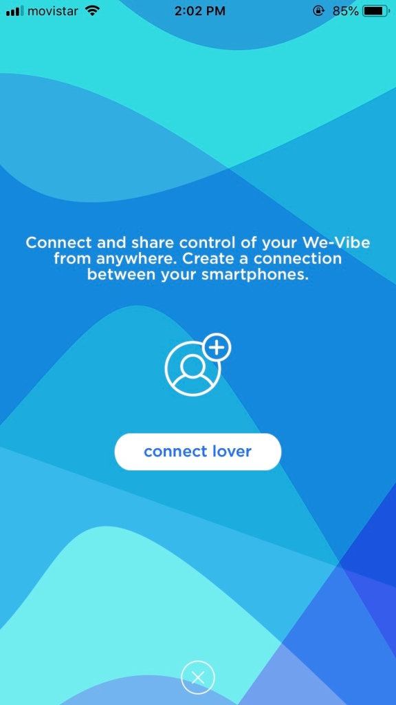 "We-Connect App loaded on to ""add a lover"" page"