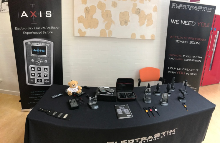 ElectraStim Booth and banners